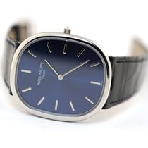 Patek Philippe Golden Ellipse Platinum 34.5mm Blue No numerals United States of America, Florida, Aventura