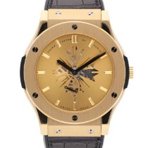 Hublot Classic Fusion Ultra-Thin 515.VX.4001.LR.SHC13 Very good Yellow gold 45mm Manual winding