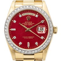 Rolex Day-Date 36 Yellow gold 36mm Red United Kingdom, Essex