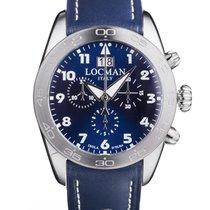 Locman Titanium Quartz Blue Arabic numerals 43mm new
