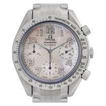 Omega Steel Automatic Mother of pearl 36mm pre-owned Speedmaster Ladies Chronograph