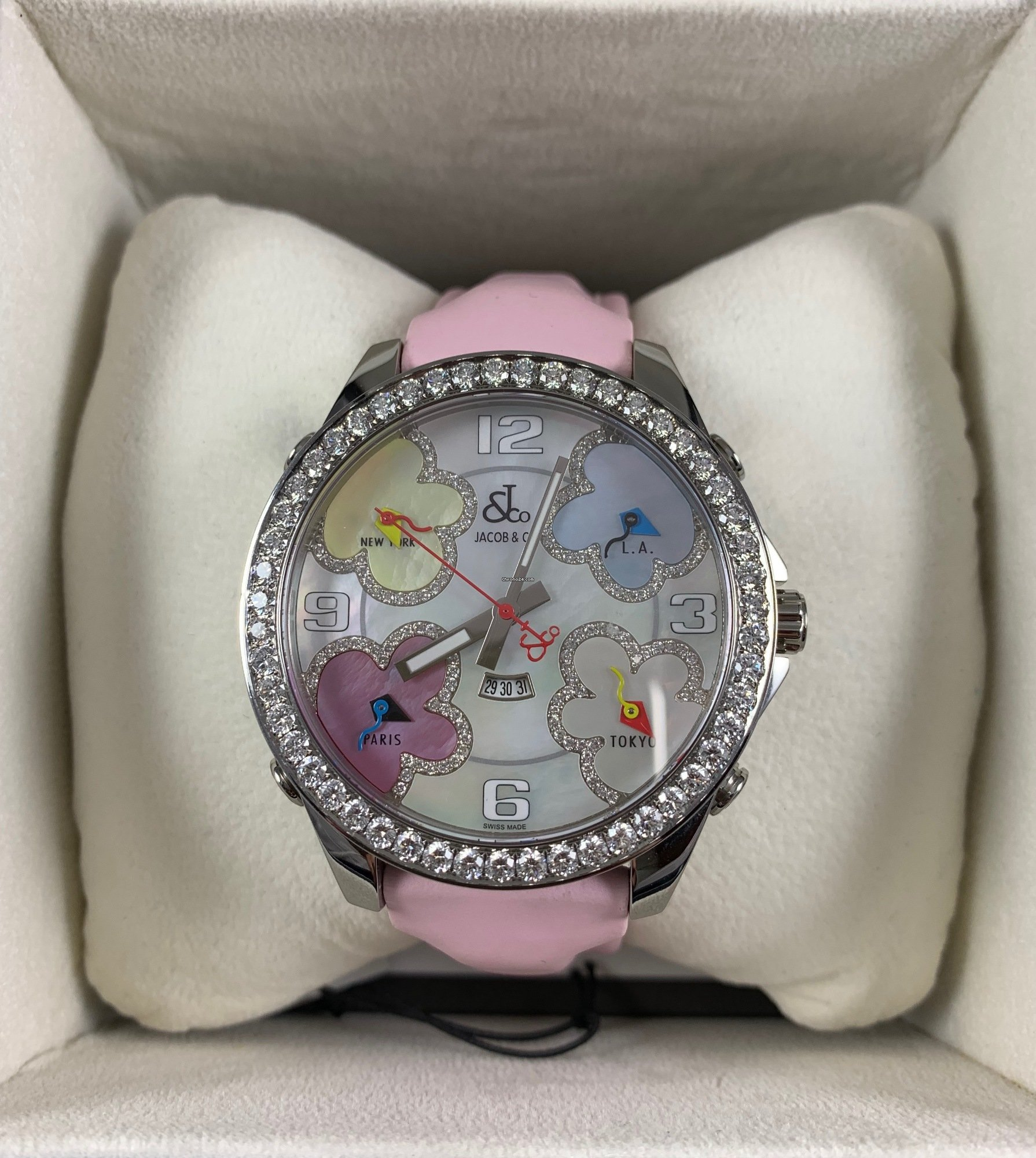 Jacob & Co  Five Time Zone 4 00ct Genuine Diamonds for Rp
