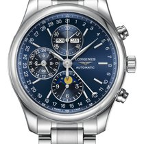 Longines Steel Automatic Blue Arabic numerals 42mm new Master Collection