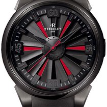 Perrelet Steel Automatic Black new Turbine (submodel)
