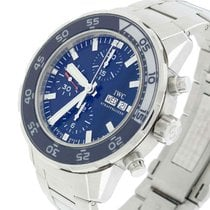 IWC Aquatimer Chronograph Day Date Blue Dial Automatic Steel...
