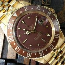 Rolex GMT-Master 1675 18k Gold Brown Nipple Dial B&P