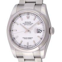 Rolex : Datejust 36mm :  116200 :  Stainless Steel : white...