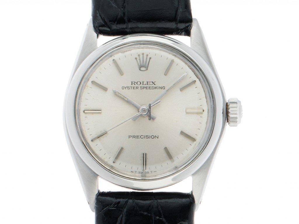 Rolex Oyster Speedking Medium Stahl Handaufzug Armband Leder... za ... 674ae5e3471