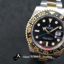 Rolex GMT-Master II Gold/Steel 40mm Black No numerals