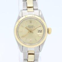 Rolex Lady-Datejust Золото/Cталь 26mm Цвета шампань Без цифр