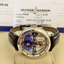 Ulysse Nardin Royal Blue Tourbillon 799-80 Muy bueno Platino 41mm