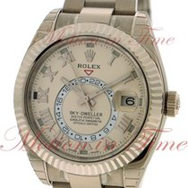 Rolex Sky-Dweller White gold 42mm Champagne Roman numerals United States of America, New York, New York