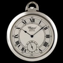 Chopard Platinum Silver Roman Dial Pocket Watch 3042