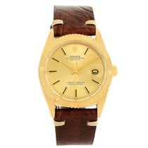 Rolex Turnograph Datejust 18k Yellow Gold Vintage Mens Watch 1625