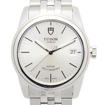 Tudor Glamour Date Stainless Steel Silver Automatic 55000-6805...