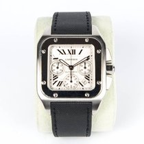 Cartier Santos 100 Steel 55mm White Roman numerals