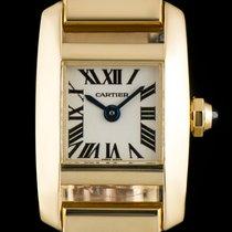 Cartier 18k Yellow Gold Silver Roman Dial Tankissime Ladies...