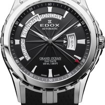 Edox Grand Ocean Day Date Automatik NEW FULL SET
