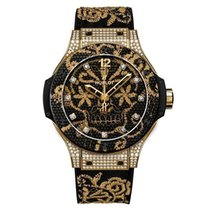 Hublot Big Bang Broderie Yellow gold 41mm Black No numerals United States of America, New York, Greenvale