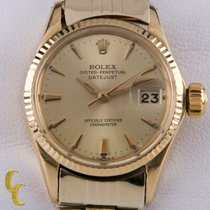 Rolex Oyster Perpetual Lady Date Yellow gold Silver No numerals