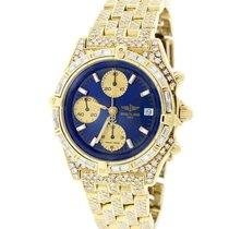 Breitling Chronomat 18K Gold 41MM K13047X w/8.6Ct Diamond...