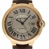 88ce33e9b01 Cartier Ballon Bleu Jumbo 42mm W6900651 18k Rose Gold Leather... for ...