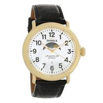 Shinola The Runwell Mens Moonphase Gold Tone Quartz Watch...