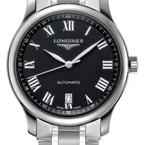 Longines Steel Automatic Black 38.5mm new Master Collection