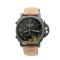 Panerai PAM00580 Panerai LUMINOR Ceramica Nero Pelle 44mm new