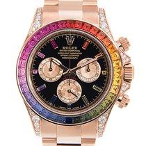 Rolex Cosmograph Daytona 18 K Rose Gold With Diamonds Black...