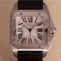 Cartier Santos 100 tweedehands 35.6mm Staal