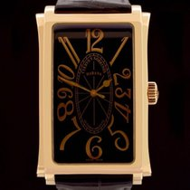 Cuervo y Sobrinos Prominente Red gold 31mm Black Arabic numerals