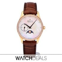 Zenith Elite Ultra Thin Rose gold 33mm Mother of pearl No numerals
