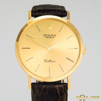Rolex Cellini Жёлтое золото 32mm Золотой Без цифр