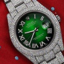 Rolex Datejust II Acier 41mm Vert Romain