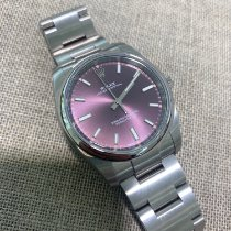 Rolex Oyster Perpetual 34 Steel 34mm Purple Arabic numerals United Kingdom, Gateshead
