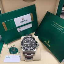 Rolex Steel Automatic Black No numerals 40mm new Submariner (No Date)