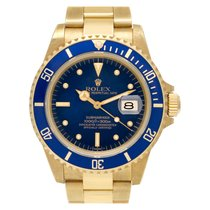 Rolex 16808 Yellow gold 1985 Submariner Date 40mm pre-owned United States of America, Florida, Surfside