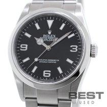Rolex Explorer Stahl 36mm Schwarz