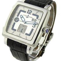 Ulysse Nardin 243-92/601 Quadrato Dual Time - Steel on Strap...