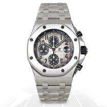 Audemars Piguet Royal Oak Offshore Chronograph Platinum 42mm Grey Arabic numerals
