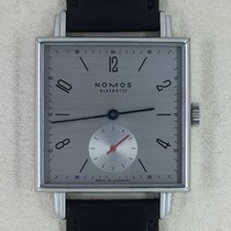 NOMOS Tetra Neomatik Steel 33,00mm Grey Arabic numerals