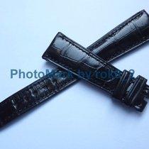 Πατέκ Φιλίπ (Patek Philippe) GENUINE  Alligator BLACK Shiny...