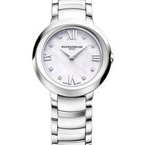 Baume & Mercier MOA10158 Promesse 30mm in Steel - on Steel...