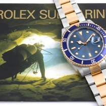 "Rolex 1987 TT Submariner ""Tropical"" Blue Dial - 16083 model w/Box"
