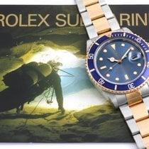 "Rolex 1987 TT Submariner ""Tropical"" Blue Dial - 16083 model w/Box"