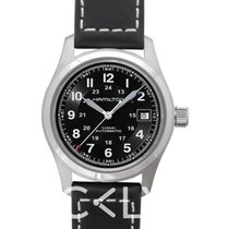 汉米尔顿 Khaki Field Auto 38mm Black Steel/Leather - H70455733