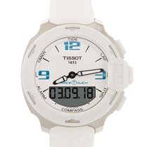 Tissot T-Race Touch Acero 42.2mm Blanco