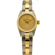 Rolex Oyster Perpetual Goud/Staal 26mm Champagne Geen cijfers Nederland, Amsterdam