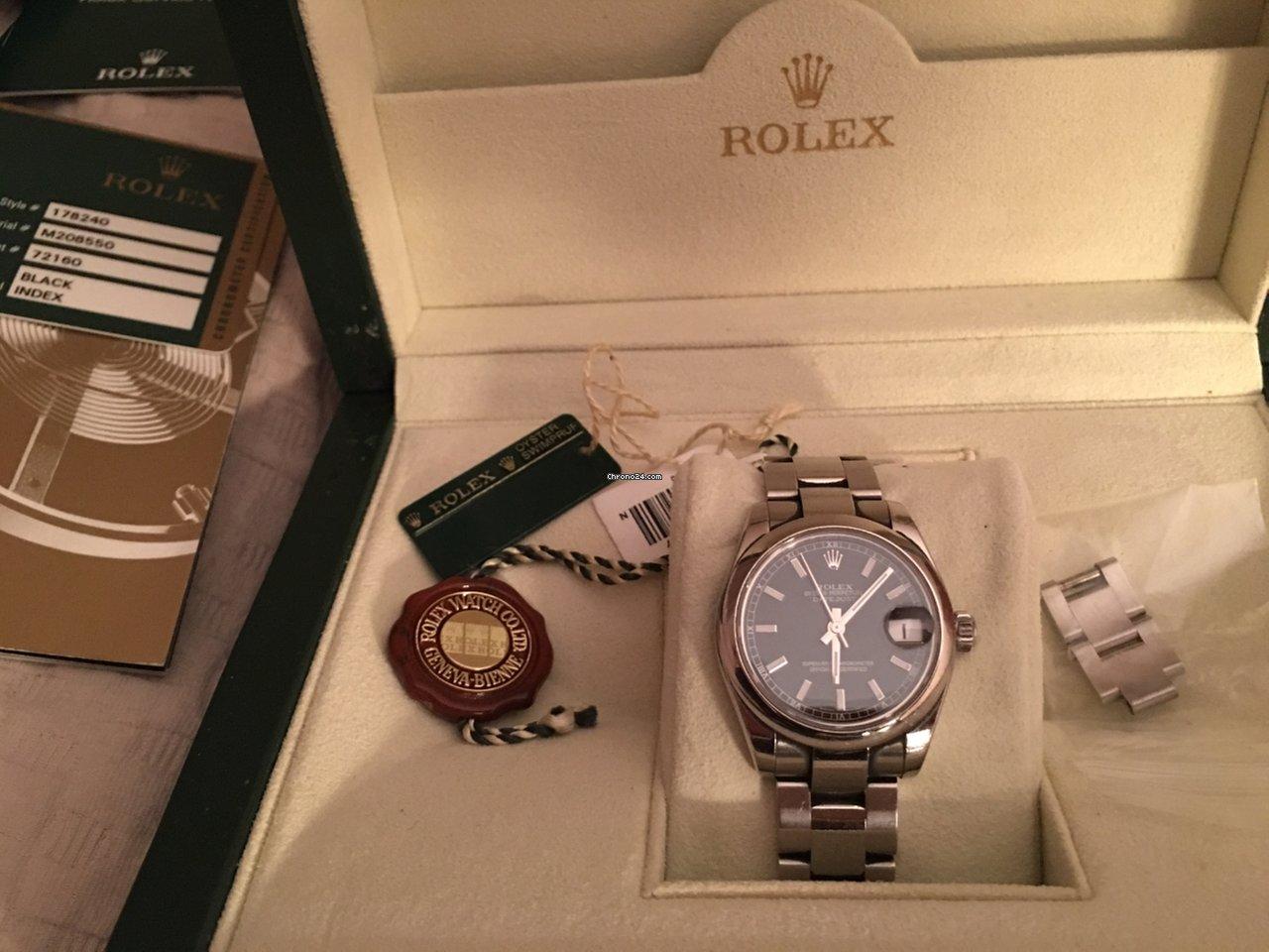 Rolex Lady-Datejust Black 31mm Index